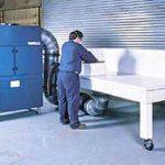 Dust Hound fiberfrax work station
